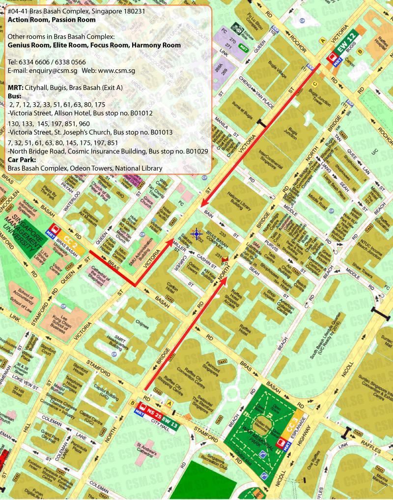 Success Training Centre CSM Singapore MapFloor PlanParking